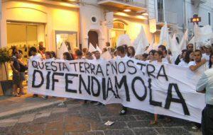 Protest tegen de maffia